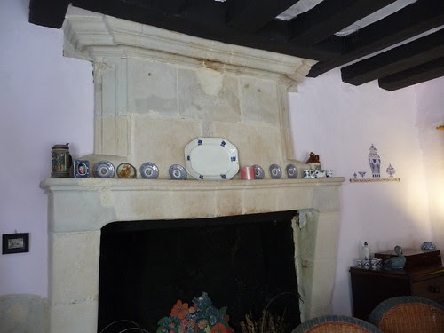 Fireplace in our gîte