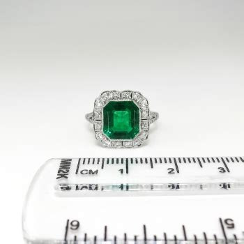 Vintage Edwardian 1920's 2.63ct t.w. Emerald Cut Emerald