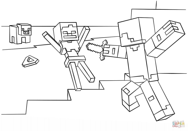 migliore mine craft disegni minecraft da colorare