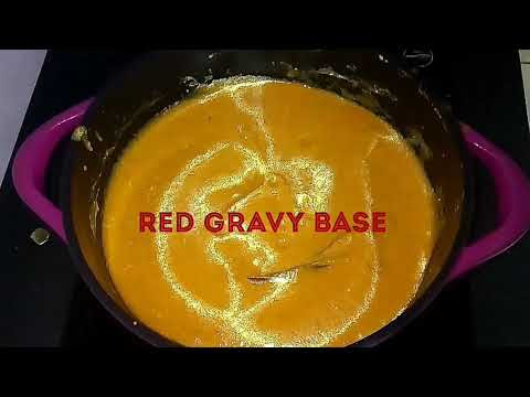 Red gravy base for restaurant style North Indian curries