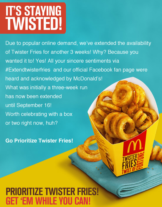 McDonalds Twister Fries