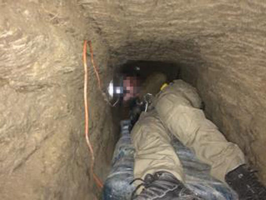 Half-mile tunnel found under US-Mexico border; 1 ton cocaine, 7 tons marijuana seized