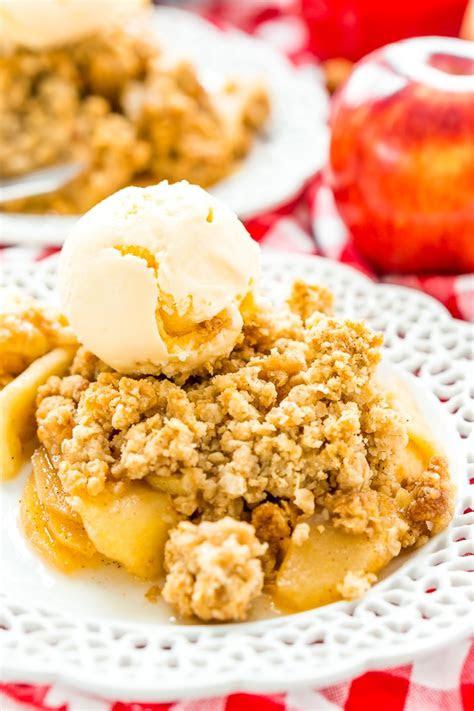 easy classic apple crisp recipe sugar  soul
