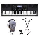 Casio WK6600 76-Key Premium Keyboard Pack with Stand, Power Supply, On-Stage Dust