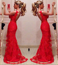 Red bodycon evening dress
