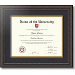 Diploma Frame Grey and Black for 11x14 inch diploma Diploma-726-89/596-0066-83120-YGRY
