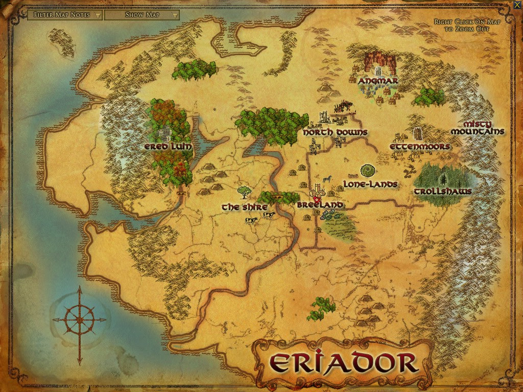 Localidades Da Terra Media Middle Earth Of Tolkien
