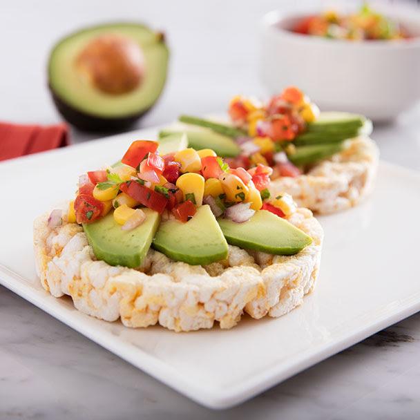 Salsa Avocado Topped Rice Cake - Recipe | QuakerOats.com