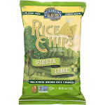 Lundberg Family Farms Rice Chips - Fiesta Lime - 6 Ounce -PACK 12