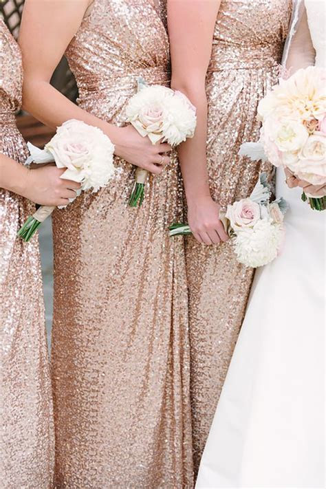 Metallic Bridesmaid Dresses   Wedding Ideas   CHWV