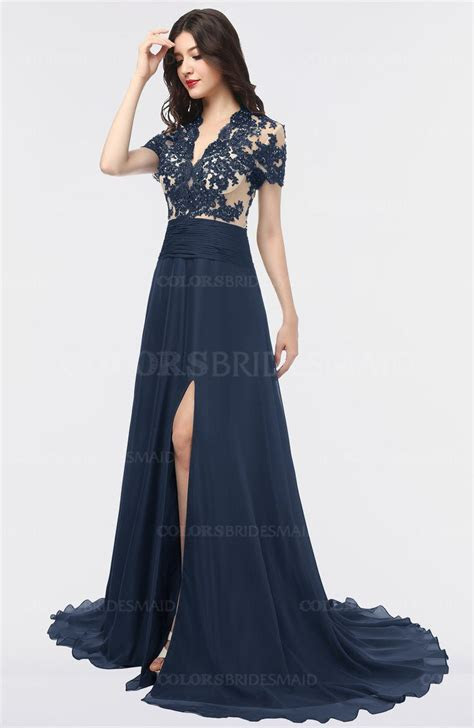 ColsBM Eliza Navy Blue Bridesmaid Dresses   ColorsBridesmaid