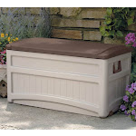 Suncast Durable Outdoor 73 Gallon Portable Deck Storage Box w/ Wheels (12 Pack) by VM Express