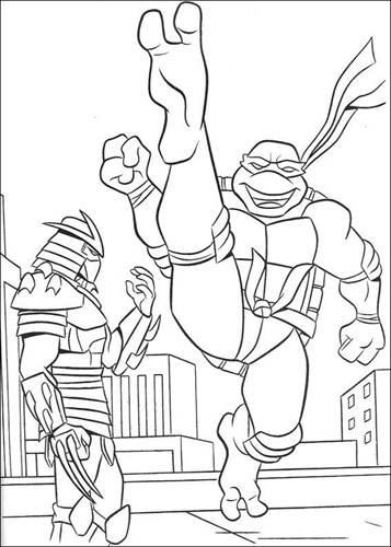 ninja turtles bilder zum ausmalen  malbild