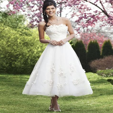 Ball gown organza flowers wedding dresses white/ivory 2015