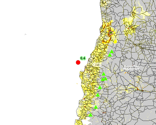 Earthquake - 6.4 - 76km NW of Talcahuano, Chile