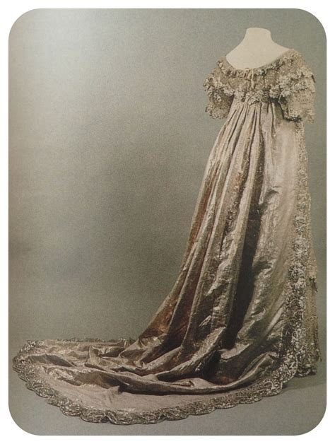 Princess Charlotte's wedding dress, 1816. She was the only