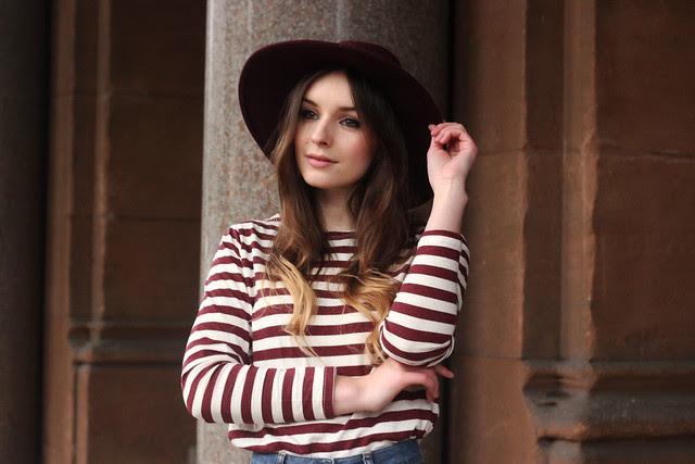 Duffle Coat Striped Top Beatnik Outfit