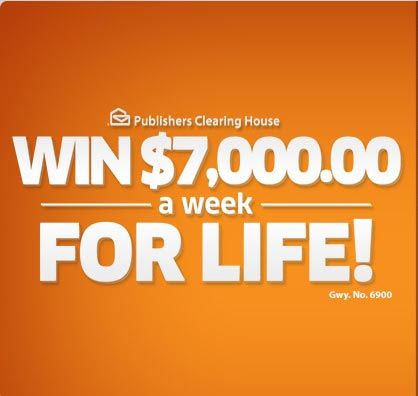 PCH $7,000 a Week For Life Sweepstakes - Gwy. No. 6900