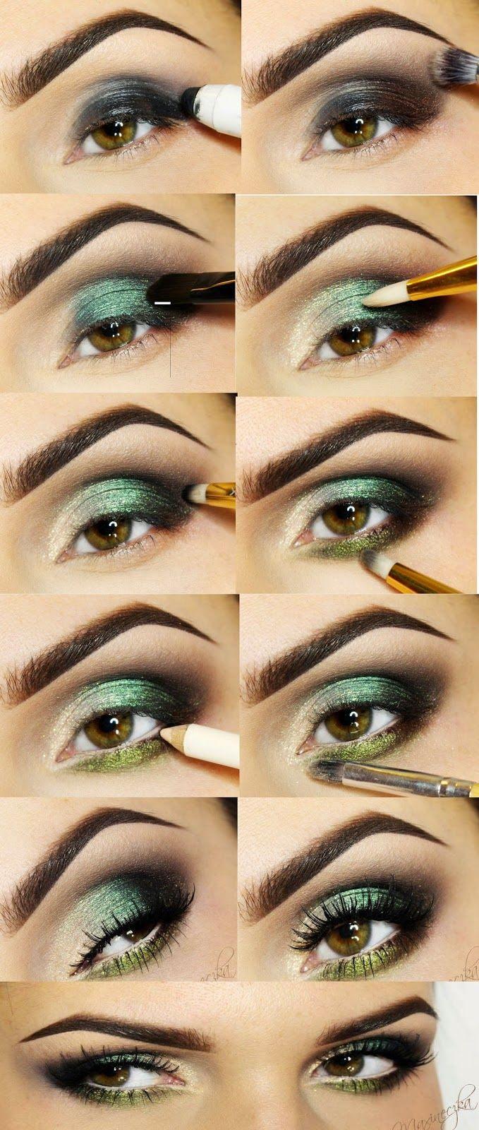 Green Eye Shades Makeup Tutorials