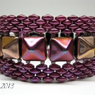Pyramid Beads used in cuff.
