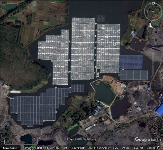 Floating Solar Plants - Google Earth Blog