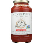 Monte Bene Farm Fresh Pasta Sauce, Spicy Marinara - 24 oz