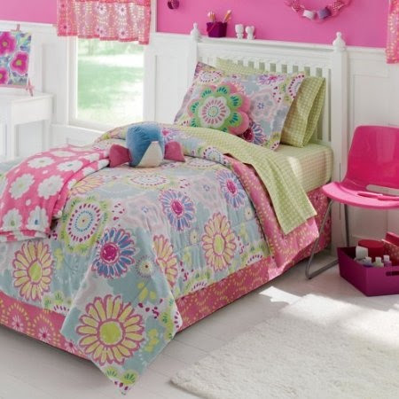 Amazon.com: Jumping Beans Flower Power 6 Pc. Twin Bed Set: Home & Kitchen