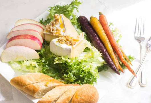 Endive Salad with Baked Brie, Roasted Carrots, and Apple Slices - Mon Petit Four