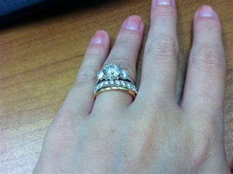 Does anyone stack their three stone rings??