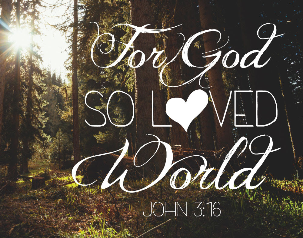 For God So Loved The World John 316 Seeds Of Faith