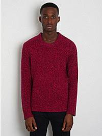 Acne Twist-Knitted Crew Neck Sweater