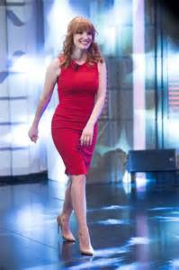 jessica chastain  red dress  el hormiguero tv show