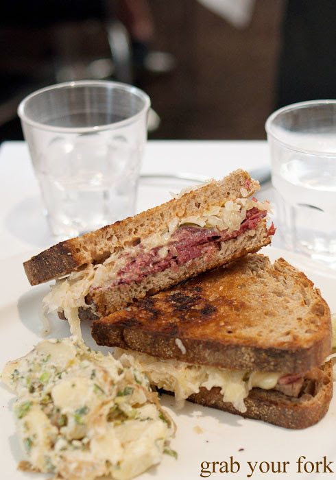 The Reuben sandwich at Ruby and Rach, Strattons Hotel Sydney