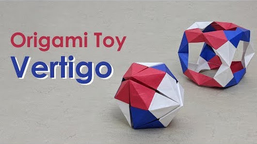 Learn How To Fold An Origami Toy Called Vertigo With This Tutorial