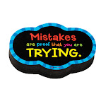 Dowling Magnets DO-735252BN Magnetic Whitboard Mistake Quote Eraser Pack of 6