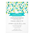 Mod Style Triangle Pattern Triangular Geometric Custom Announcement from Zazzle.com