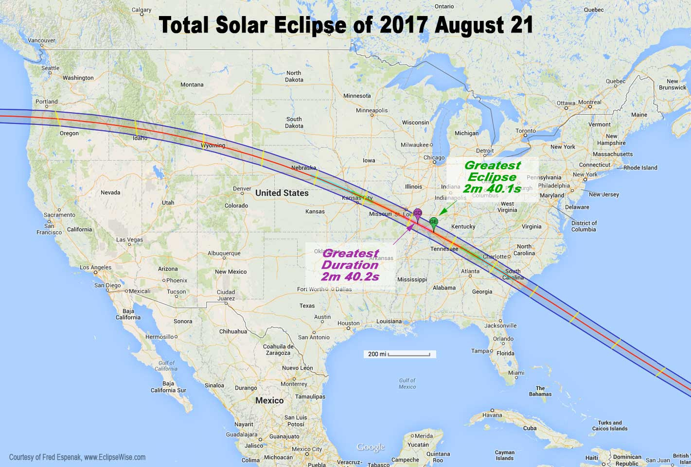 Image result for august 21 eclipse path