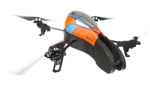 Parrot AR.Drone Quadricopter Controlled by iPod touch, iPhone, iPad, and Android Devices (Orange/Blue)