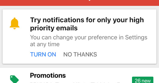 Gmail for iOS now has smarter notifications