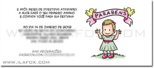 Convite personalizado aniversário bebê, convite original, convite infantil personalizado by ila fox