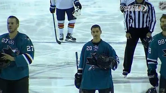 San Jose Sharks Sign Fan For A Day