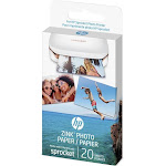 "HP ZINK Sticky-Backed Photo Photo Paper, 2"" x 3"", Gloss finish - 20 sheets"