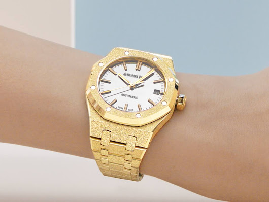 Audemars Piguet Royal Oak Frosted Gold Limited Edition - 37 mm
