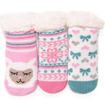Muk Luks Infant Booties and Crib Shoes Rose - Rose Quartz Three-Pack Infant Booties - Kids