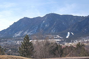 Cheyenne Mountain photographed from outside of...