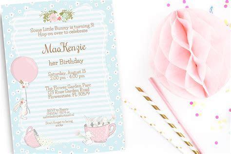 Bunny birthday party invitation ~ Invitation Templates