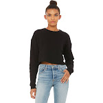 Bella + Canvas Women's Cropped Fleece Crew - B7503 Black