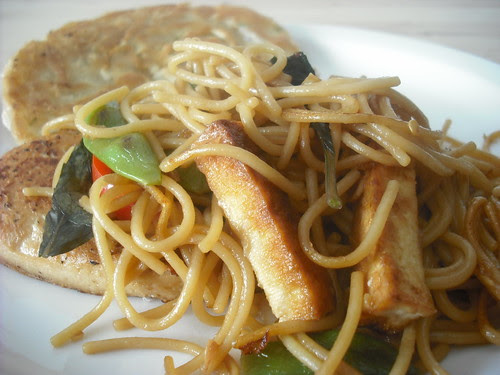 Drunken Spaghetti with Tofu