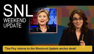 Saturday Night Live - Tina Fey returns to the Weekend Update desk