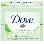Dove Cool Moisture Bar Soap, Cucumber And Green Tea - 4.25 Oz/ Soap, 2 Ea